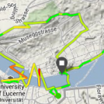 The route around Lucerne