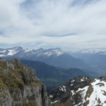 Looking towards the Alpes