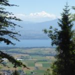 View of the Mont Blanc, canton de Vaud and Lac Léman