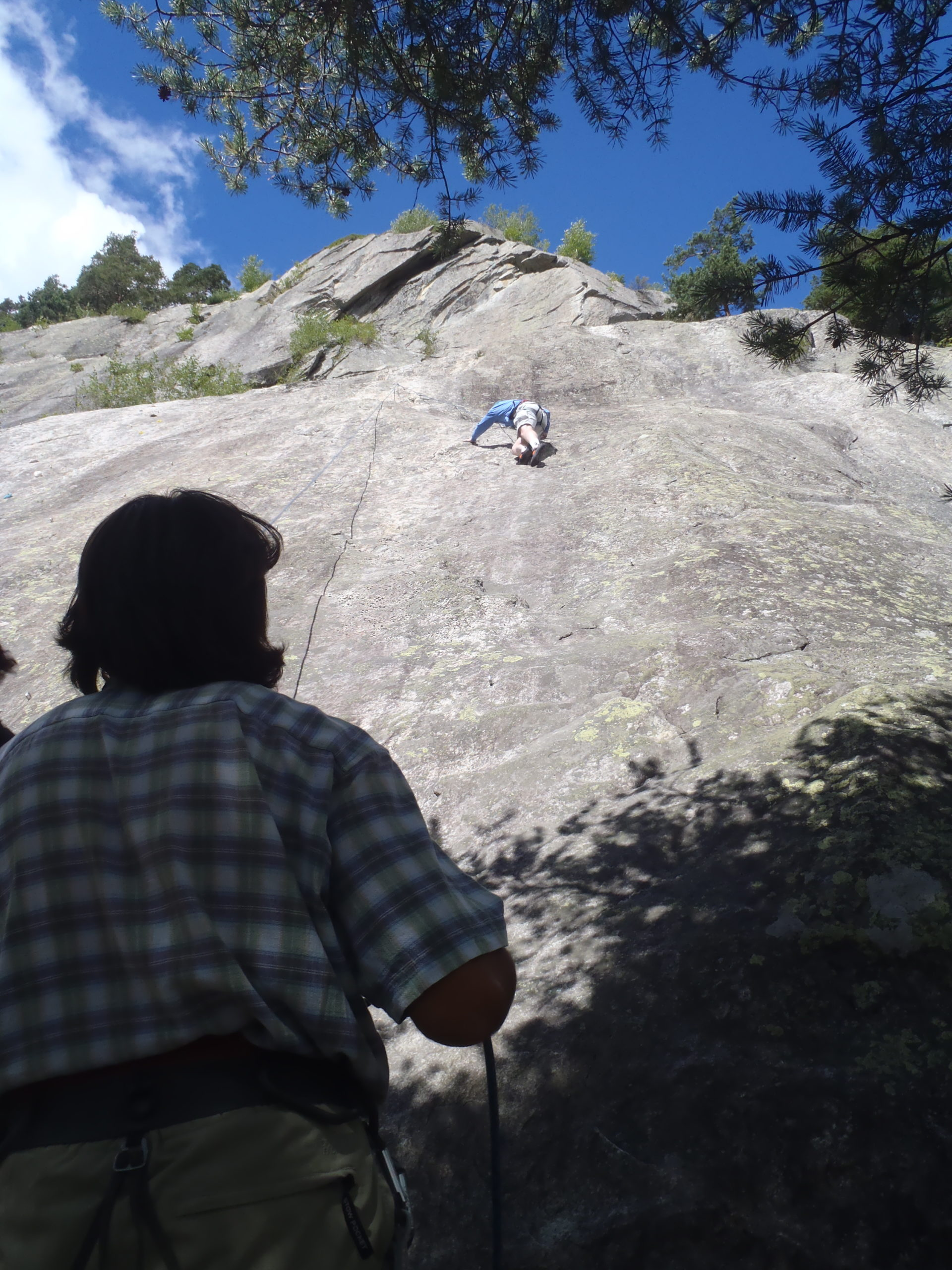 Rock climbing on the Italian side of the Mont Blanc a few years ago.