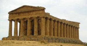 Roman Temple In Aggrigento, Sicily.
